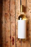 Fles witte wijn Stock Foto