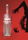 Fles wodka Stock Afbeelding