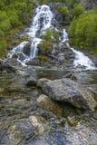 Flesana waterfall in Norway Stock Photo