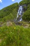 Flesana waterfall in Norway Stock Photography