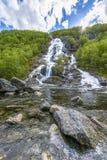 Flesana waterfall in Norway Stock Photos