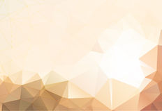 Flesh color abstract background polygon Royalty Free Stock Photography