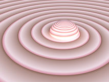 Flesh to Pink Swirl Royalty Free Stock Photography