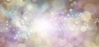 Spiritual Ethereal Angelic starry glitter bokeh background banner royalty free stock image