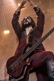 Fleshgod Apocalypse in Hellfest 2016. Formed only in 2007, Fleshgod Apocalypse are at the vanguard of Italy's extreme metal movement. No other band in the Royalty Free Stock Photo