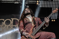 Fleshgod Apocalypse in Hellfest 2016. Formed only in 2007, Fleshgod Apocalypse are at the vanguard of Italy's extreme metal movement. No other band in the Royalty Free Stock Photography