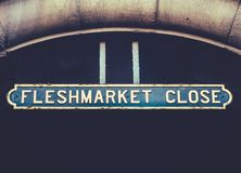 Fleshmarket Close Sign Royalty Free Stock Photography