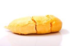 Fleshs do Durian do frescor no branco Fotos de Stock Royalty Free
