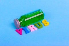 Flesje met een vaccin of een behandeling Royalty-vrije Stock Foto