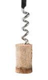 Flesopener met cork Stock Fotografie
