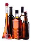 Flessen alcohol stock afbeelding