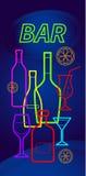 Flessen alcohol royalty-vrije illustratie