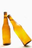 Flessen bier stock afbeelding