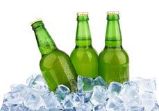 Flessen bier Royalty-vrije Stock Afbeeldingen