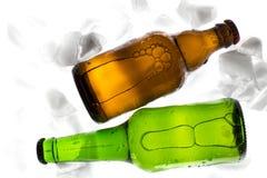 Flessen bier Stock Foto