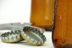 Flessen biersamenstelling royalty-vrije stock foto
