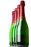 Flessen champagne Stock Afbeelding