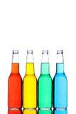 Flessen die op wit worden geïsoleerdd Stock Afbeelding