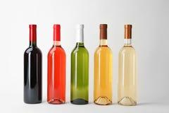 Flessen dure wijnen Stock Foto's