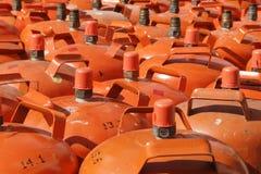 Flessen gas Stock Afbeeldingen