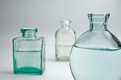 Flessen I van het glas Stock Foto's