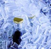 Flessen in ijs Royalty-vrije Stock Foto's
