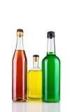 Flessen met alcohol Royalty-vrije Stock Foto