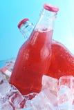 Flessen met drank stock afbeelding