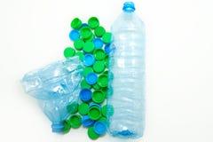 Flessen met kappen Stock Afbeeldingen