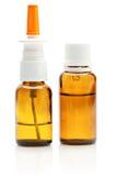 Flessen met medicijn Stock Foto