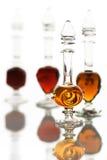 Flessen met parfumoliën Royalty-vrije Stock Foto