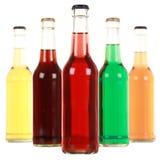Flessen met soda royalty-vrije stock afbeeldingen