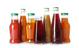 Flessen met verschillende dranken royalty-vrije stock foto