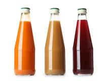 Flessen met verschillende dranken royalty-vrije stock fotografie