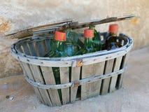 Flessen na wijn royalty-vrije stock afbeeldingen