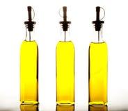 Flessen olijfolie Royalty-vrije Stock Afbeeldingen