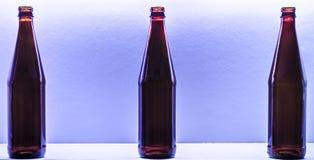 Flessen op de achtergrond Royalty-vrije Stock Afbeeldingen