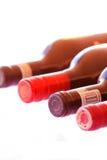 Flessen rode Geïsoleerde Wijn Royalty-vrije Stock Afbeelding