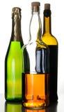 Flessen van alcoholdranken Stock Afbeelding