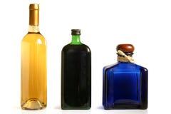 Flessen van alcoholische dranken royalty-vrije stock foto's