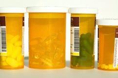Flessen van de Drugs van het Voorschrift Stock Foto