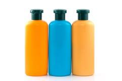 Flessen van schoonheidsmiddelen Royalty-vrije Stock Afbeeldingen