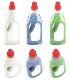 Flessen van stoffenwaterontharders Royalty-vrije Stock Foto