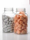 Flessen van tabletten Royalty-vrije Stock Fotografie