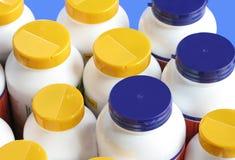 Flessen van voedingssupplementen Royalty-vrije Stock Foto