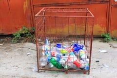 Flessen voor recycling Royalty-vrije Stock Foto's