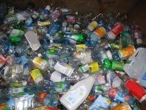Flessen voor recycling Royalty-vrije Stock Afbeeldingen