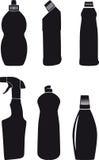 Flessen voor washing-up vloeistoffen Stock Foto