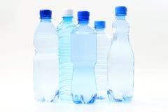 Flessen water stock fotografie