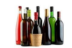 Flessen wijn. Royalty-vrije Stock Afbeeldingen